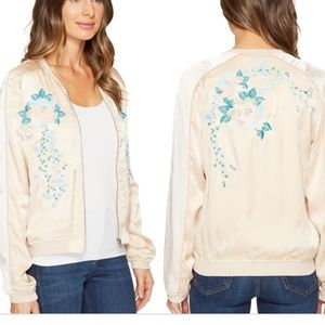 Blank NYC Embroidered Bomber Jacket